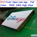 "p10 front open led sign 256cm x 128cm,100.8"" x 50.4"",FRONT OPEN, full color SMD high brightness ,IP65 water proof,WIFI Function"