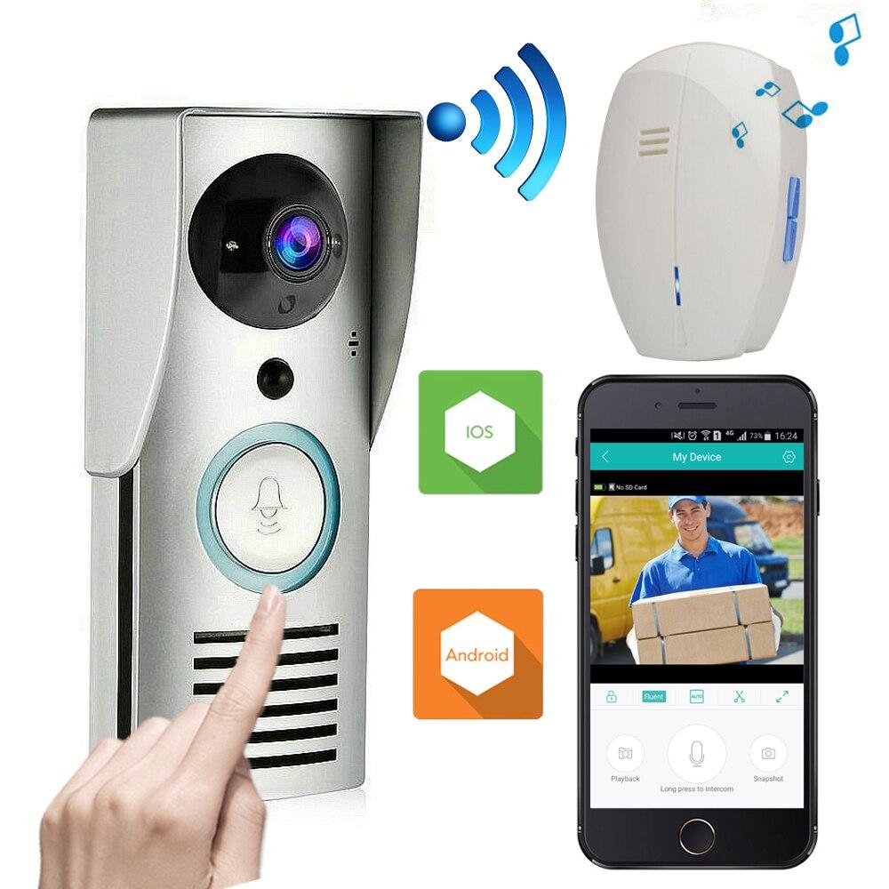 US $46 19 34% OFF|CUSAM Video Intercom Doorbell WIFI Wireless Smart Door  Phone System Bell 720P HD Camera Night Vision Unlock Motion Sensor Alarm-in