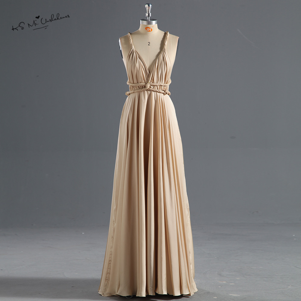 Robe Demoiselle d'honneur Cheap Wedding Guest   Dresses   2017 Champagne Long   Bridesmaid     Dress   for Wedding Party Backless Sexy Prom