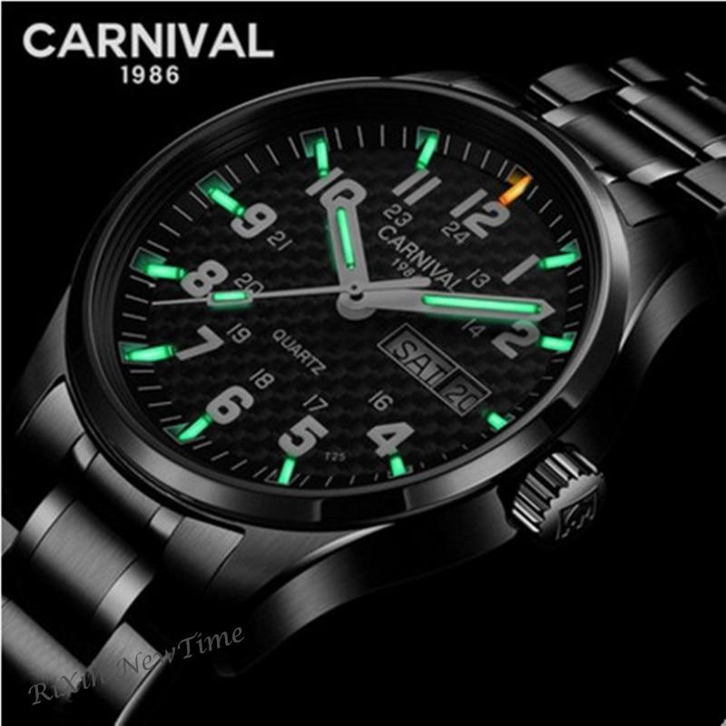 Тритий T25 светящиеся часы мужчины люксовый бренд военные полный стали кварцевые мужские часы водонепроницаемые часы Reloj erkek коль saati Montre