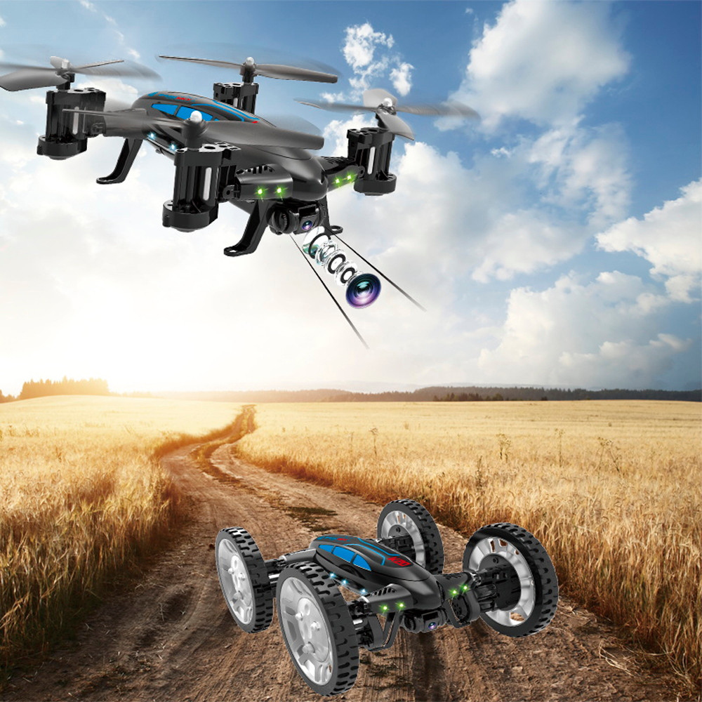 2019 New Year Gifts K20 RC Quadcopter W HD Camera Flying Car Drone WiFi FPV Helicopter