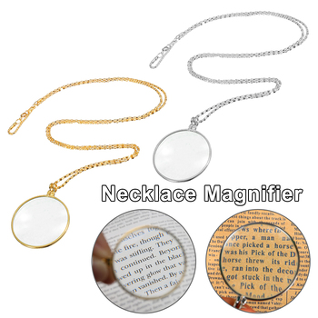 Utility Monocle Lens Necklace With 5x Magnifier Coin Magnifying Glass Pendant Magnifiers