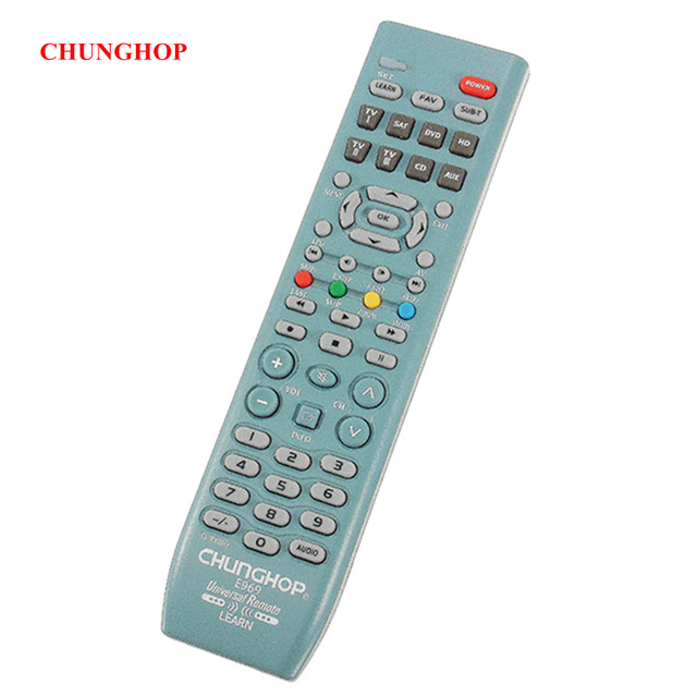 CHUNGHOP E969 8 In1 Smart Universal Remote Control Replacement For TV SAT DVD CD AUX VCR