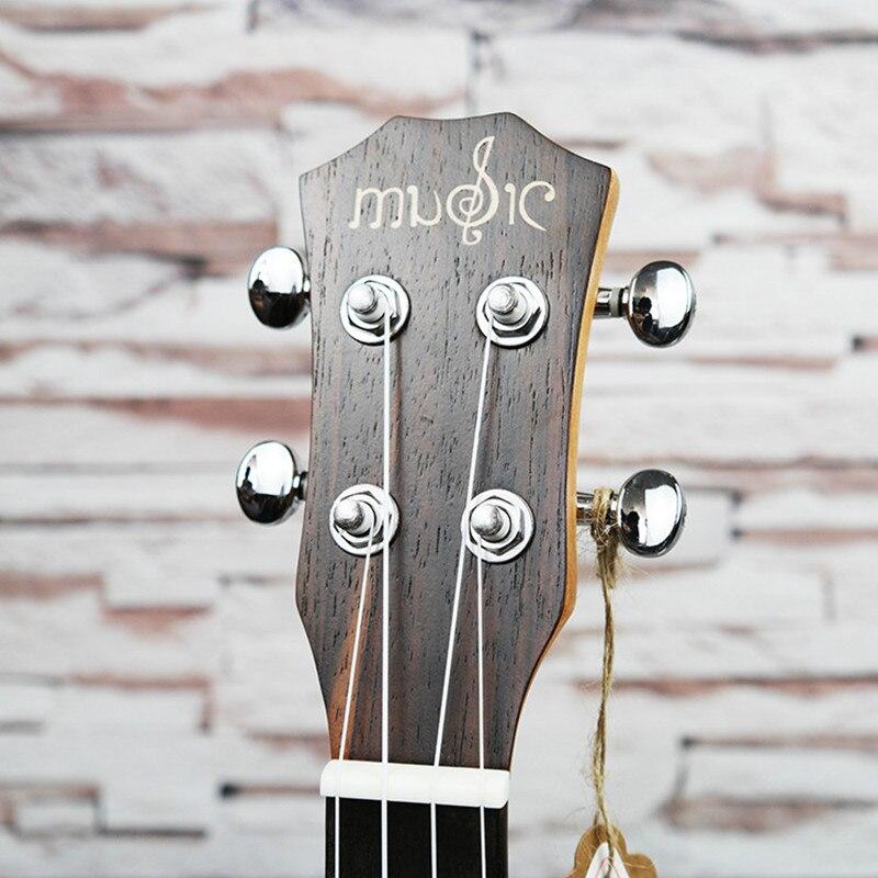 SevenAngel 26 pouces ténor acoustique ukulélé tout palissandre hawaïen 4 cordes guitare électrique Ukelele avec micro EQ AQUILA String - 5