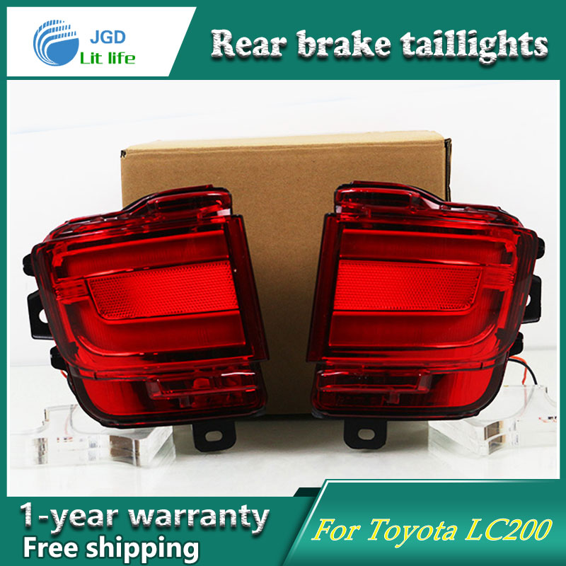 Car Styling Tail Lamp for Toyota Land Cruiser 2016 2017 Tail Lights LED Tail Light Rear Lamp LED DRL+Brake+Park+Signal Stop Lamp car styling tail lamp for toyota corolla led tail light 2014 2016 new altis led rear lamp led drl brake park signal stop lamp