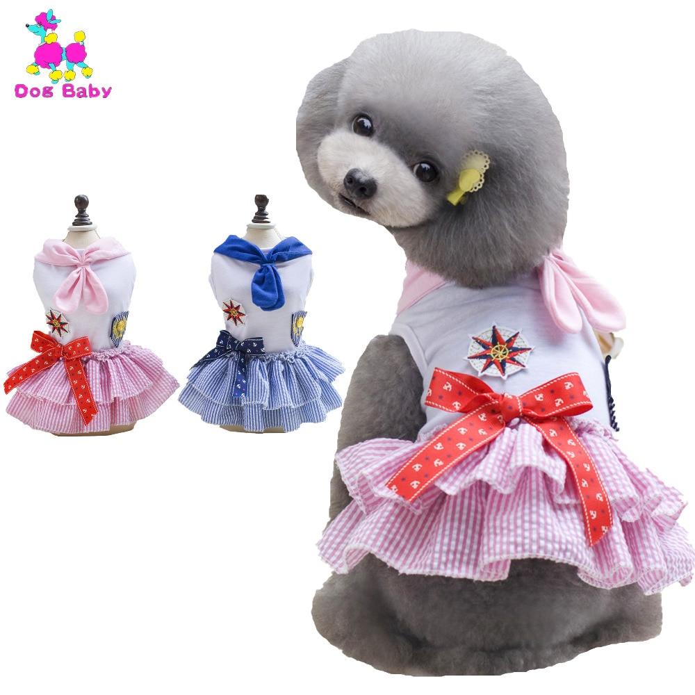 DOGBABY Vestidos de verano para mascotas Hot Pink & Blue Dress For - Productos animales