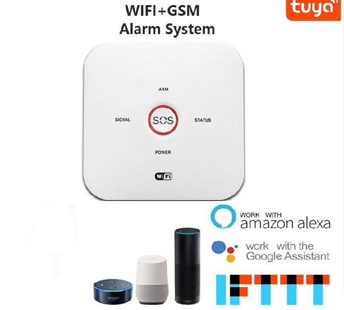 Yobang Security Wifi Wireless GSM Home Security Alarm System Video IP  Camera Smoke Fire Detector Tuya APP Control ALEXA IFTTT