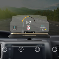 Universal Car HUD Head Up Display Mobile Phone GPS Navigation HUD Bracket For Smart Phone Car