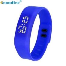 Paradise 2017 reloj  Fashion LED Sports Running neutral Watch Date Rubber Bracelet Digital Wrist Watchch Free Shipping Apr09