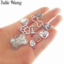Julie wang 10 шт смешанные ожерелья с отпечатками ног собаки