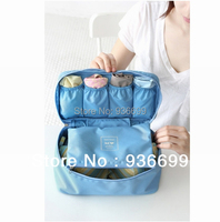 4pcs travel underwear organizer lingerie case bra pouch cosmetic bag 4colors/set free shipping