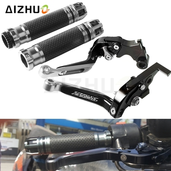 Motorcycle Brake Clutch Lever Extendable+Handle Grips Handlebar For YAMAHA TRX850 TRX 850 1996-2000 1997 1998 1999