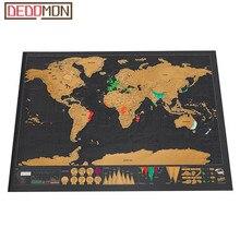 Роскошная стираемая черная карта мира, Скретч Карта мира, персонализированная карта для путешествий, скретч для карты, украшение для дома, наклейки на стену