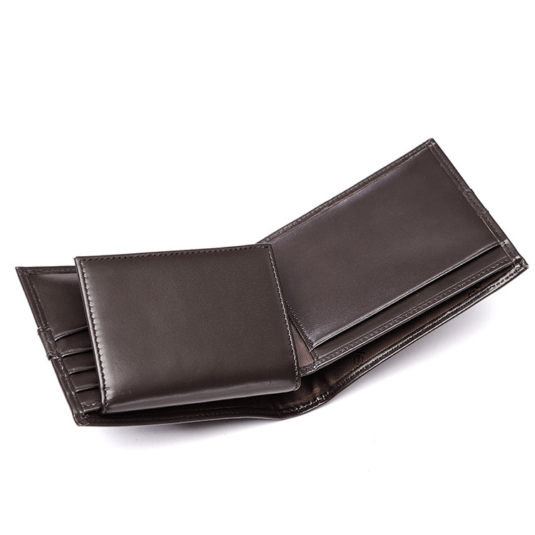 цены  teemzone Fashion Mens Genuine Leather Bifold Wallet Credit/ID Card Holder Slim Purse Photo Holder Trend Coffee Q407