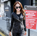 Free Shipping 2017 Fall  Winter Clothes Jacket Pu Women Leather Jacket Short Paragraph Slim Lady Small Leather Motorcycle Models
