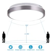 Radar Human Induction LED Ceiling Lamp Light Operated Sensor Motion Infrared Aisle Stairs Light Ceiling Panel