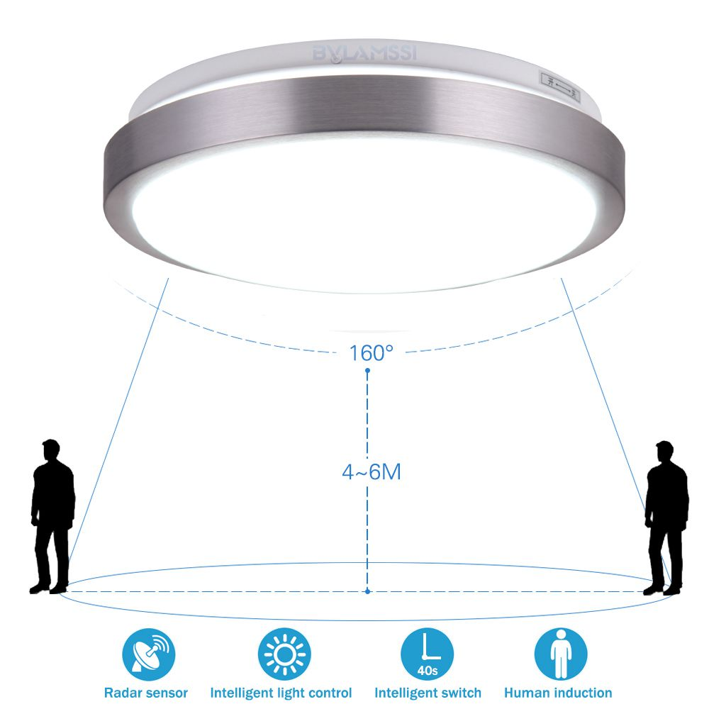 radar induction led ceiling light lamp for home operated. Black Bedroom Furniture Sets. Home Design Ideas