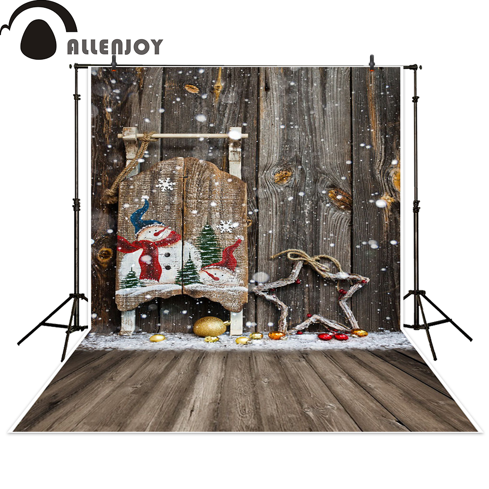 Allenjoy photo backdrops Christmas snowman star wooden wall newborn photo studio photocall backdrop photography