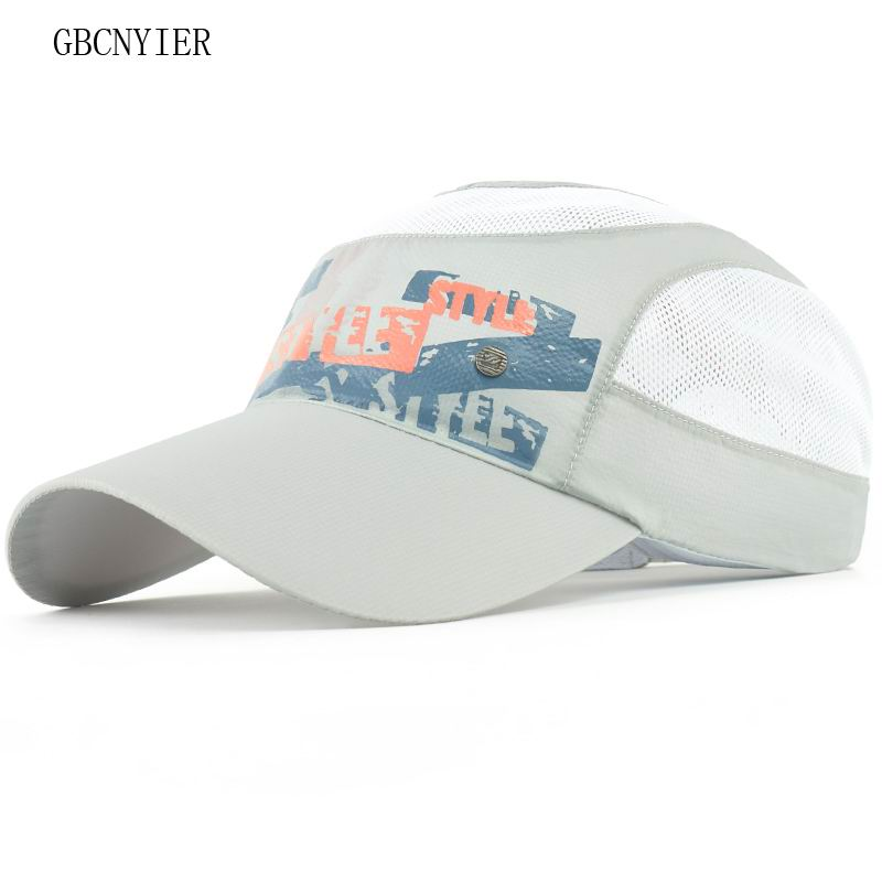 GBCNYIER 7-12 Years Baseball Cap Unisex Summer Thin Mesh Portable Quick Dry Breathable Sun Hat Tennis Running