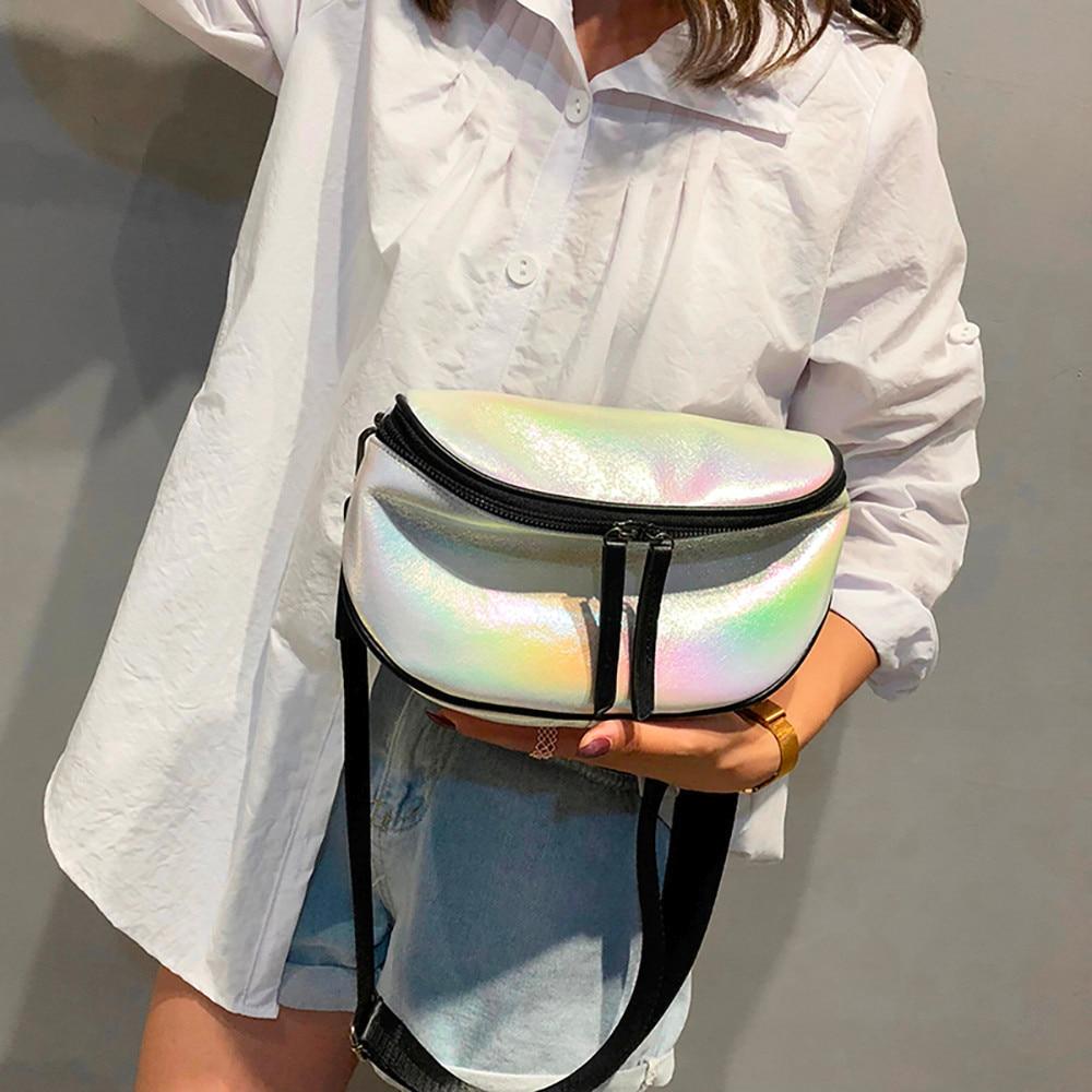 Belt Bags Women 2018 Fanny Pack Hologram Wide Shoulder Strap Messenger Waist Bag Tide Shoulder Heuptas Wandelen Hologram 2018