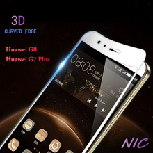 Full Cover Tempered Glass For Huawei G8 G7 Plus 3D Curved Edge Screen Protector For Huawei