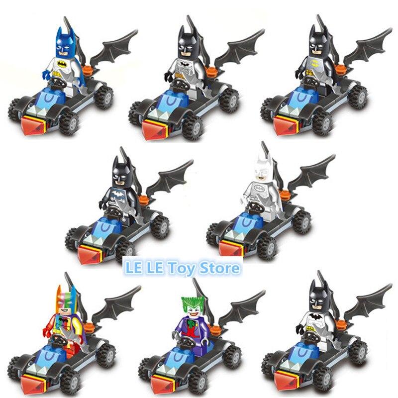 8pcs/lot Lepin Batman Figures 2017 Marvel DC Super Heroes  Princess Girls Joker Robin Mini Building Blocks Toys for Children