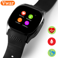 2017 Vwar T8M Blood Pressure Heart Rate Smart Watch With Camera Bluetooth 4 0 Fitness Tracker