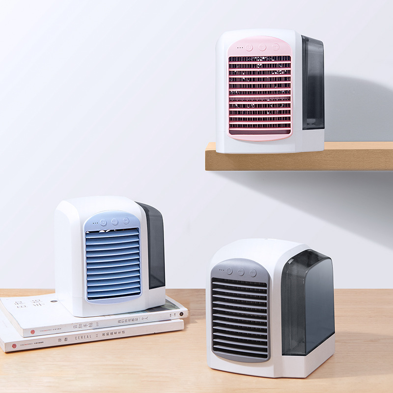 WXB European Style Mini Air Conditioner Cooling Fan 3 Files Air Conditioning Portable Desk Fans air Cooler Humidifier Cool DownWXB European Style Mini Air Conditioner Cooling Fan 3 Files Air Conditioning Portable Desk Fans air Cooler Humidifier Cool Down
