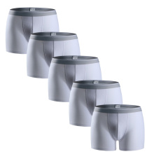 Arno Men Underwear 5-Pack Cotton Boxer High Quality Casual Mens Sexy Boxers