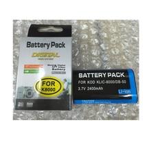 KLIC-8000 KLIC8000 lithium batteries pack DB50 Digital camera battery K8000 For Kodak ZX1 ZXD Z612 Z812 Z1012 Z1015 Z1085 Z1485