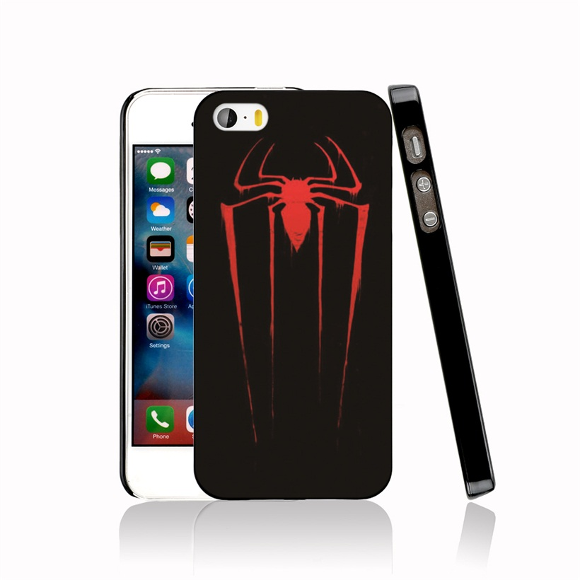 08741 Red <font><b>Spiderman</b></font> <font><b>Logo</b></font> Cover cell phone <font><b>Case</b></font> for <font><b>iPhone</b></font> 4 4S 5 5S SE 5C 6 6S 7 Plus