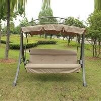 3 человека высокого качества deluxe садовые качели стул патио гамак с изогнутыми краями сени и подушки