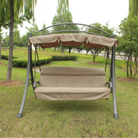 3 person high quality deluxe garden swing chair patio hammock with Arched canopy and cushion