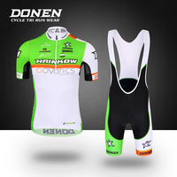 DONEN New 2018 Bicycle Racing Team Short Sleeve Men's Cycling Jersey Kits Summer breathable Cycling Jersey Sets Maillot Ciclismo