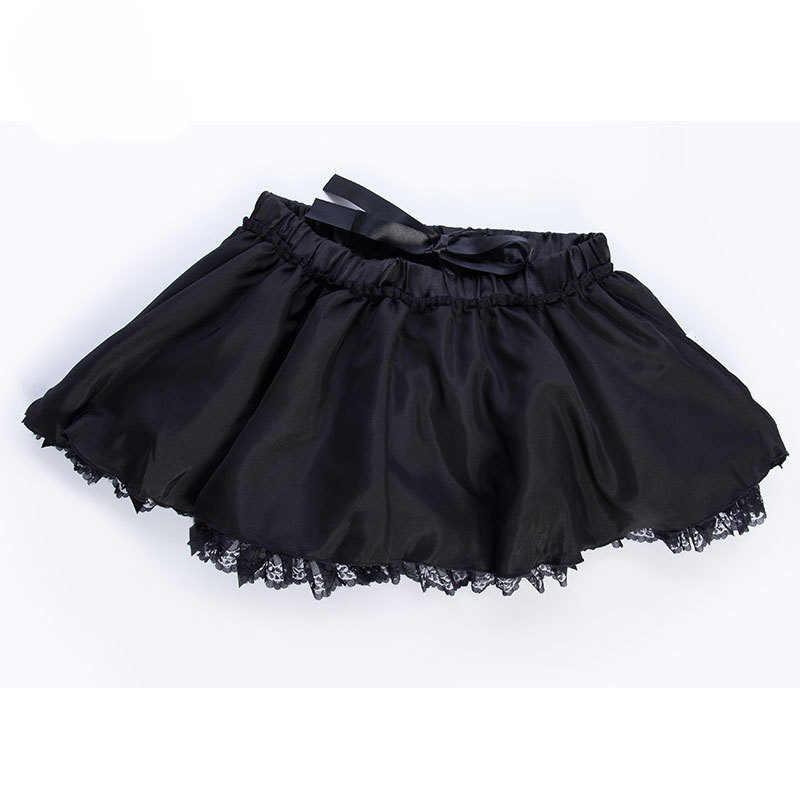 2 слоя черного тюля с бантом мини-юбки Сексуальная Клубная одежда юбка-пачка Лолита Милая юбка-американка Женская Нижняя юбка в стиле бурлеск