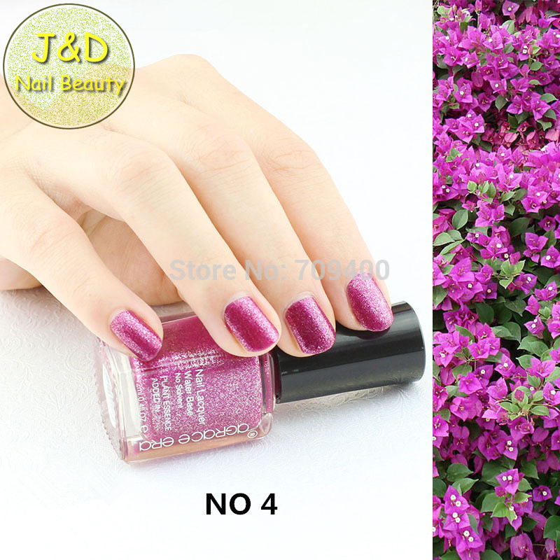 Foreverjasmine 10pcs Glitter Violet Red Nail Polish Plum Nail