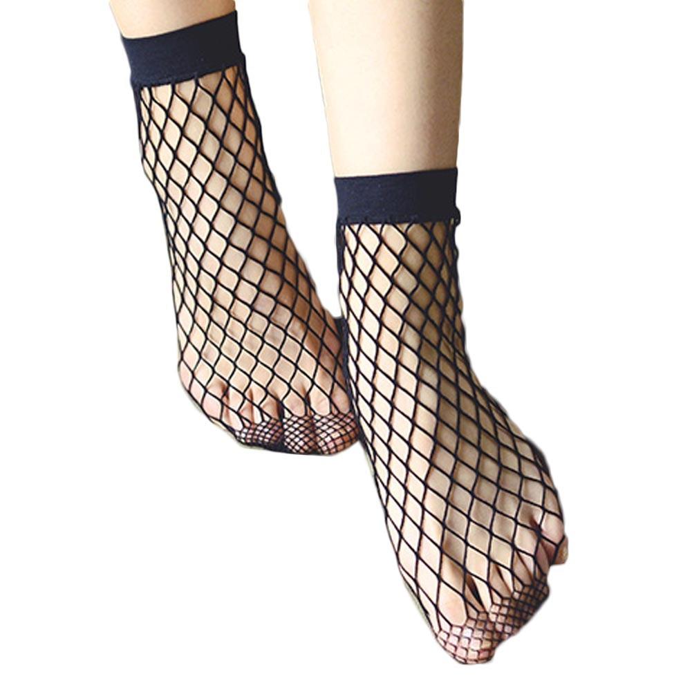 New Brand Women Ladies Girls Summer Style Black Breathable Fishnet Socks Cool Female Sexy Nets Socks Short Socks