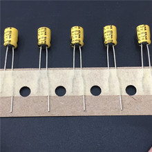 100pcs 4.7uF 63V ELNA Yellow 5x7mm 63V4.7uF Audio capacitor