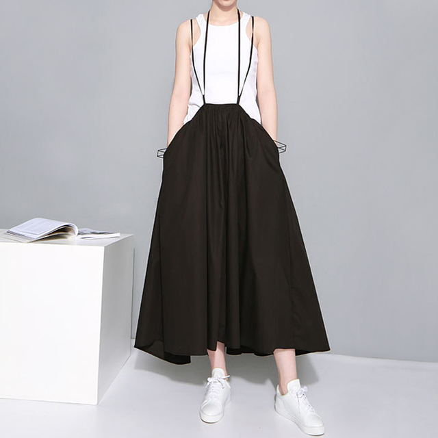 VeryYu 2020 Summer Women Black Long Maxi Skirt Elastic Waist Fashion Color: 1388 Black Size: One Size VeryYu the Best Online Store for Women Beauty and Wellness Products