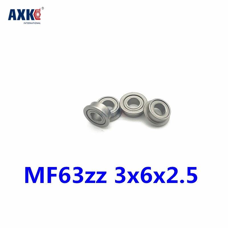 MF105-2RS Metal Flanged Rubber Sealed Ball Bearing Bearings 5x10x4 mm 10 Pcs