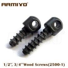 """Armiyo 1/2 """"3/4"""" Tornillos de madera se adapta a la mayoría de los rifles Accesorios de disparo de pistola Caza de una docena (12 piezas) Embalado"""