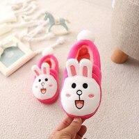 Cute Cartoon Rabbit Kids Slippers Winter Children Shoes Girls Warm Home Slippers Toddler Baby Cotton Indoor