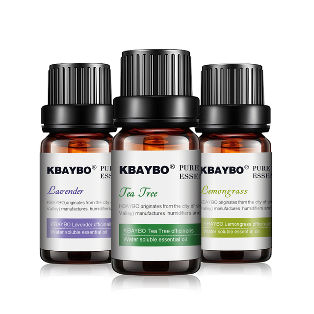 Essential Oil for Diffuser,Water-soluble Oil for Aromatherapy Humidifier 3 Kinds Fragrance of Lavender, Tea Tree,Lemongrass 1