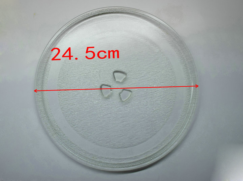 Free Shipping to Europe ! 24.5cm Microwave Oven Glass Plate for Galanz Midea Haier etc. Microwave Oven Parts free shipping microwave oven parts glass plate support oven bracket roller plastic ring glass microwave tray bracket