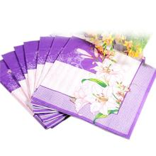 Min Order is $5,  (1 packs ) Abstract pattern Napkin Paper 100% Virgin Wood blue flower Tissue for Party Decoration Crafts