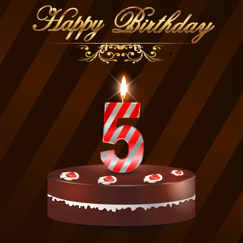 Laeacco Happy 5th Birthday Cake Baby Children Party Photography Backgrounds Customized Photographic Backdrops For Photo Studio