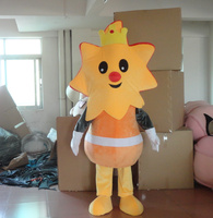 Nova chegada 2014 cartoon character adulto bonito sol boneca do traje da mascote fancy dress costume party