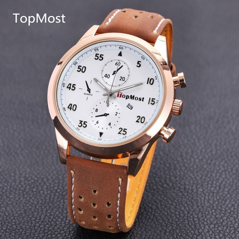 2015 The latest brand large dial watch waterproof calendar The fashion leisure watches Men s sports