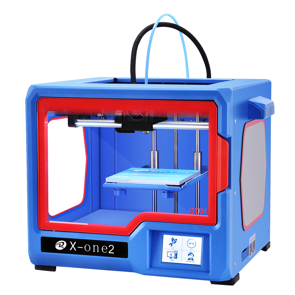 QIDI TECH 3D Printer, impresora 3d,New Model: X-one2, Fully Metal Structure, 3.5 Inch Touchscreen,heat bed.PLA and ABS