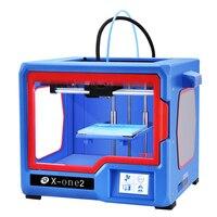 Qidi tech impressora 3d impresora 3d X one2 totalmente estrutura de metal 3.5 Polegada tela sensível ao toque cama calor pla e abs 150*150*150|Impressoras 3D| |  -